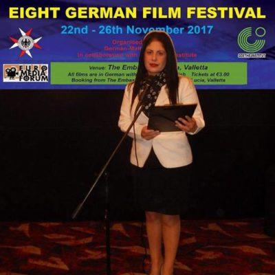 Preżentazzjoni tal-German Film Festival, 2017.  Presentation of German Film Festival, Malta, 2017.